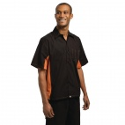 A951-L Contrast Shirt - Black and Orange