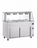 MIV714 Bain Marie with Hot Cupboard