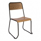 Urban Wood & Metal Sidechair (Pack of 2)