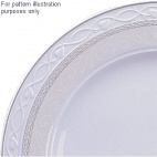Churchill Chateau Damask Oval Plates 355mm