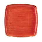 Churchill Stonecast Square Plates Berry Red 268 x 268mm
