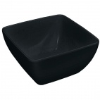DP146 Curved Black Melamine Bowl 8""