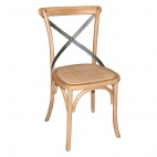 GG656 Wooden Dining Chairs with Backrest (Pack of 2)