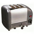 3 Slice Vario Toaster Metallic Charcoal