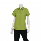 Womens Cool Vent Chef Shirt Lime S