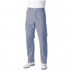 A008-38 Mens Chef Trousers - Blue and White Check