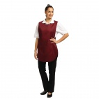 B045-1 Tabard with Pocket - Burgundy