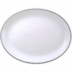 Churchill Black Line Oval Platter 254mm