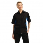 Colour by Chef Works Contrast Black and Blue Shirt - B175-XXL
