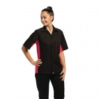 Colour by Chef Works Contrast Black and Berry Shirt - B176-XS