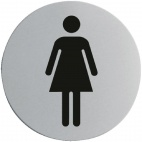 U056 Stainless Steel Door Sign - Ladies