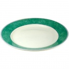 Churchill New Horizons Marble Border Mediterranean Dishes Green 252mm
