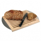 Wood Cutting Board with Stainless Steel Tray
