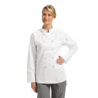 B099-XL Ladies Chef Jacket - White