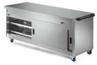 P8P6PT Pass-through Hot Cupboard With Plain Top