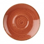 Churchill Stonecast Round Cappuccino Saucers Spiced Orange 185mm