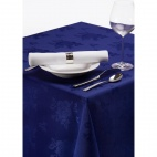 CE624 Roslin Polyester Woven Rose Royal Blue Tablecloth