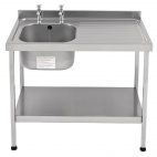 E20602RTPA 1200mm Stainless Steel Sink (Fully Assembled)