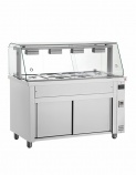 MIV711 1/1 GN Hot Cupboard with Bain Marie Top & Glass Display