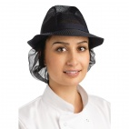 A654-L Trilby Hat with Snood - Navy Blue