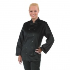 A438-L Vegas Chefs Jacket (Long Sleeve) - Black
