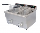 BF-8+8 2 x 8 Ltr Twin Tank Electric Fryer with Tap