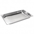 K839 Stainless Steel Perforated 1/1 Gastronorm Pan 40mm