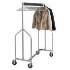 Heavy Duty Z Garment Rail With Anti Theft Hangers