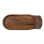 CD142 Churchill Single Handled Medium Wooden Tray