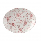 Churchill Vintage Prints Oval Plates Cranberry Rose Print 317mm
