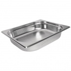 K844 Stainless Steel Perforated 1/2 Gastronorm Pan 65mm