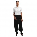 A969 Bistro Apron Split-front with Pocket - Black