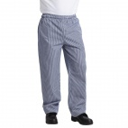 Whites Vegas Chefs Trousers Small Blue and White Check S