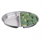 P184 Oval Vegetable Dish - Two Division