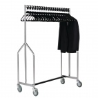 Heavy Duty Z Garment Rail With Hangers