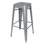 DM934 Gun Metal Grey Steel Bistro High Stool (Pack of 4)