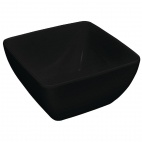 DP147 Curved Black Melamine Bowl 11""