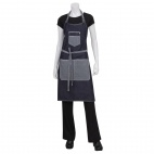 Urban Bronx Bib Apron with Scoop Neck Indigo - B717