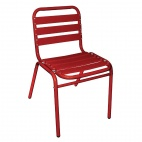 GK994 Bistro Sidechairs Aluminium Red (Pack of 4)