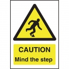 W290 Caution Mind The Step Sign