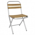 Ash and Aluminium Folding Chairs (Pack of 4)