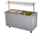 BM40MSG Mobile Hot Cupboard With Bain Marie Top And Heated Gantry