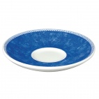 Churchill New Horizons Marble Border Espresso Saucers Blue 115mm