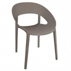 PP Wraparound Chair Coffee (Pack of 4)
