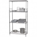"U259 4 Tier Wire Shelving Kit. 610mm (24"") depth."