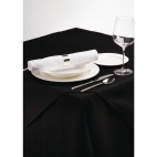 CE696-BK Palmar Polyester Black Tablecloth