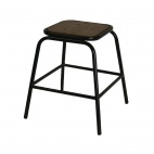 Urban Wood & Metal Lowstool (Pack of 2)