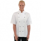 DL711-L Chicago Short Sleeve Chef Jacket - White