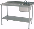 SINK1070SBL 1000mm Single Bowl Sink With Single Left Drainer