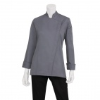 Lansing Basic Catering Womens Chef Jacket Grey L